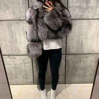 womens winter warm soft real fox fur coat ladies natural fox fur jacket