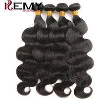 wholesale Kemy hair raw indian unprocessed hair extension brazilian human hair weave bundle with closure