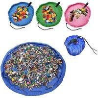 Portable play mat lego toys organizer bin box fashion practical foldable kids toy storage bags