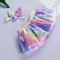 Wholesale New Born baby Clothing Hot sequined skirt set for girl princess birthday tutu skirt with bunny matching headband