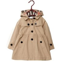 Girls Hooded Trench Coat Jacket Dress Windbreaker Outwear Baby Girls Winter Coat