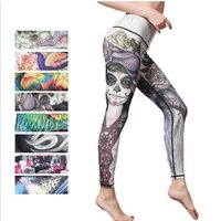Womens Clothing Skull Leggins OEM Accepted Printed Ladies Fancy Leggings drop shipping