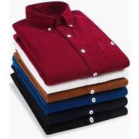 2019 Popular Hot- Sale London style Dress Shirts Mens Corduroy Shirts