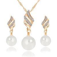 Hot saling multiple pcs one pack fashion choker necklace stud earring jewelry set