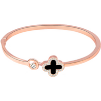 Rose Gold Silver Clover Bangle Bracelets, Watch Accessories