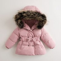 Wholesale Childrens Boutique Clothing Children Clothes Girl Dresses Jacket Baby Girl Winter down Coat Outwear with Genuine fur