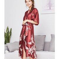 Women Robes Bathrobes Sets Sexy Lace Silk Satin Pyjamas Pijamas Sets Nightgown Nightwear Night Gown WP580