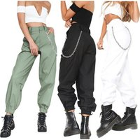 2019 New Pure Color Wide Leg Casual Pants Harem Pants Female High Waist Women Hip Hop Loose Spring Style Casual Female Trousers