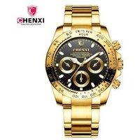 CHENXI 086A Classic Golden Quartz Wrist Watch For Man