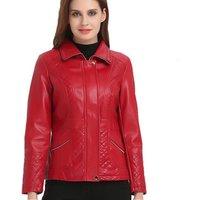 2019 spring short women pu leather jacket ladies black small leather jacket women red coat ladies jackets