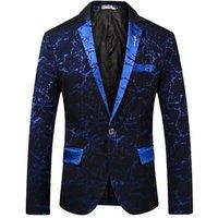 YSMARKET Hot Sale One Button Suits Men Fashion Night Club Slim Fit Coat Men Luxury Blazer Business Jackets Spring Autumn M-3XL