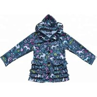 Boutique Baby Girls Unicorn Long Sleeve Blouse Wholesale Printed Spring/Fall Womens Jackets Children Coat
