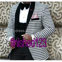HD009 Hot Recommend Mens Winter Wear Blazer Dinner Party Prom Suits Groom Tuxedos Suits (Jacket+Pants+Vest+Bow Tie)