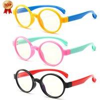 CDYJKJ02 New Anti Blue Light Blocking Glasses Frame Silicon Computer Eyewear Eyeglasses Kids Eye Glasses Frames For Girls Child
