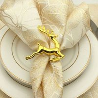 China manufacturer wholesale table make decorative gold rose animal napkin rings