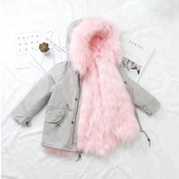 Brand new black faux fur parka coat andjacket for children With High Quality
