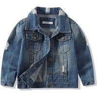 baby Boys Girls Outerwear Coat boys Girls Hole Denim Jackets Coats 2019 Fashion Spring Children Outwear Coat Kids Denim Jacket