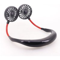 Headphone Design Wearable Portable Neckband Mini Fan with USB Rechargeable
