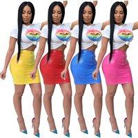 MQ3475  Sexy Crop Top and Mini Skirt Women  2 Piece Set  Dress