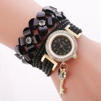 Women Bracelet Ladies Watch With Rhinestones Clock Womens key pendant Vintage Fashion Dress Wristwatch Relogio Feminino Gift