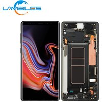 Mobile Phone LCD For Samsung Note 9 LCD Touch Screen Display Digitizer Assembly Replacement With Frame