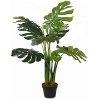 Highly Simulation PEVA 110cm Decorative Artificial Bonsai Monstera Deliciosa Tree Plant