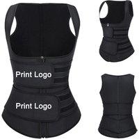 Lover Beauty Latest Design Two Belt Latex Slimming Vest Waist Trainer Vest Shaper Corset