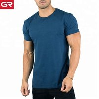 2019 Popular Custom Printed Fitness Clothing Fitted Short Sleeve Mens T Shirt