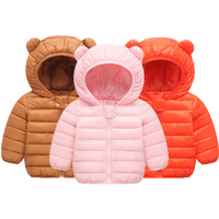 Factory good price high quality down jacket Lightweight down coat baby ear cute jacket