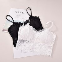 women top quality Fitness padded tank top underwear ladies mujer Lace bralette crop top