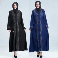 Red Diamonds Turkey Caftan Islamic Clothing Muslim Kimono Kaftan Dubai Abaya Ramadan Robe Femme