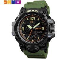 Skmei 1327 Luxury Brand Men Wrist Watches Military Big Dial Digital Led Clock Waterproof Outdoor Sports Dual Time Quartz Watch