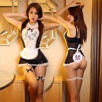 FY sexy Maid Uniform Costumes Role Play Women Sexy Lingerie Hot Sexy Underwear Lovely Female White Lace Erotic Costume
