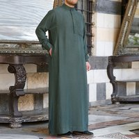 Indian Mens Clothing Robe Long Sleeve Saudi Arab Thobe Jubba Thobe Man Kaftan Middle East Islamic Jubba Thobe Muslim Dressing