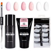 Fast Builder nail gel 45g venalisa 6 colors thick jelly canni acrylic nail extend slip solution liquid poly gel full tool set