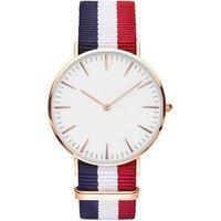 European style, nylon wristwatch band two - pin quartz wrist watch