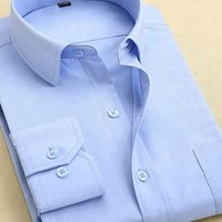 Solid color 100% cotton non-iron men slim fit formal dress shirts.