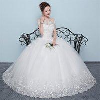 2019 European Vestidos De Novia hemline off shoulder boat neck cap sleeves floor length bridal dress Wedding gown