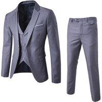 9 Color S-6XL (jacket+pant+vest) Mens Wedding Suit Luxury Slim Fit Blazers Formal Party Wear Business Casual 3 Piece Set EXF001