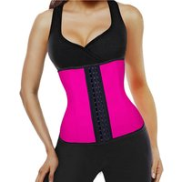 Fajas Colombianas 3 hook 9 Steel Boned Corset Latex Waist Cincher