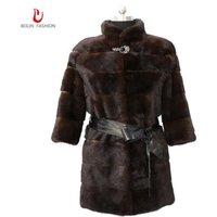 New hot selling factory wholesale long ladies mink fur coat