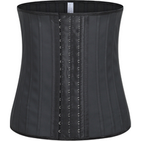 HOT SALE  Latex 25 Steel Bone 30cm Postpartum Women Sexy Thigh Waist Trainer Top Shaper  lumbar Corset