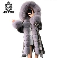 Non-Toxic High Quality Women Winter Clothes Warm Hood Parka Fur Collar Womens Leather Coat
