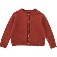 H3366/ New Design High Quality Solid Color Knit Baby Cardigan