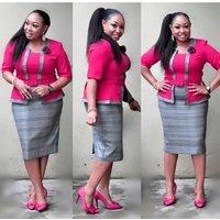 Hot sale Fahion Pencil work dresses African Career dress