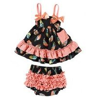 Hot Sell Import Kids Clothing Two Pieces Cotton Baby Clothes Set