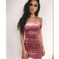 DCD-17343 Party Women Clothes Sexy Ladies Pencil Mini Dress Sexy Strapless Tight Fitting Hip Dress