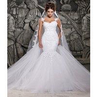 Mermaid Wedding Dresses Long Sleeve Cut-out Back Bridal Gown