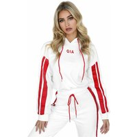 2 Piece Set Women Jumping Workout Suit Hoodies Short Crop Top + Pants High Waist Sexy Sweatshirt