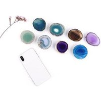 BUBM Agate Stone Holder Phone Stand Holder Popping Up Socket